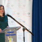 Dr Edyta Bielak-Jomaa, Prezes Urzędu Ochrony Danych Osobowych podczas wystąpienia w trakcie spotkania w Przysusze.